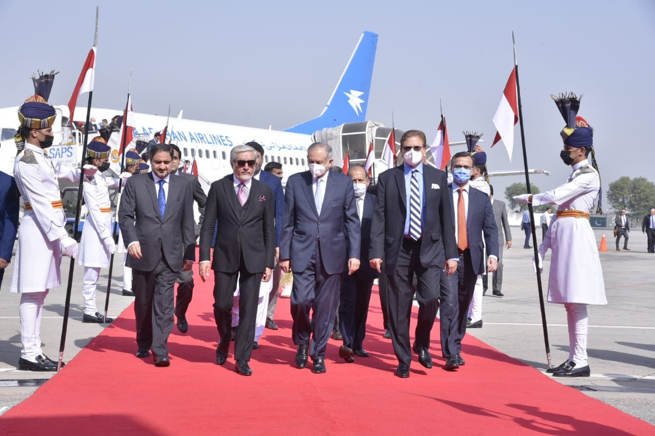 Dr. Adbullah Leaves Kabul for Islamabad