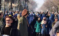 راهپیمایی معترضان به نتیجۀ انتخابات ولایت تخار