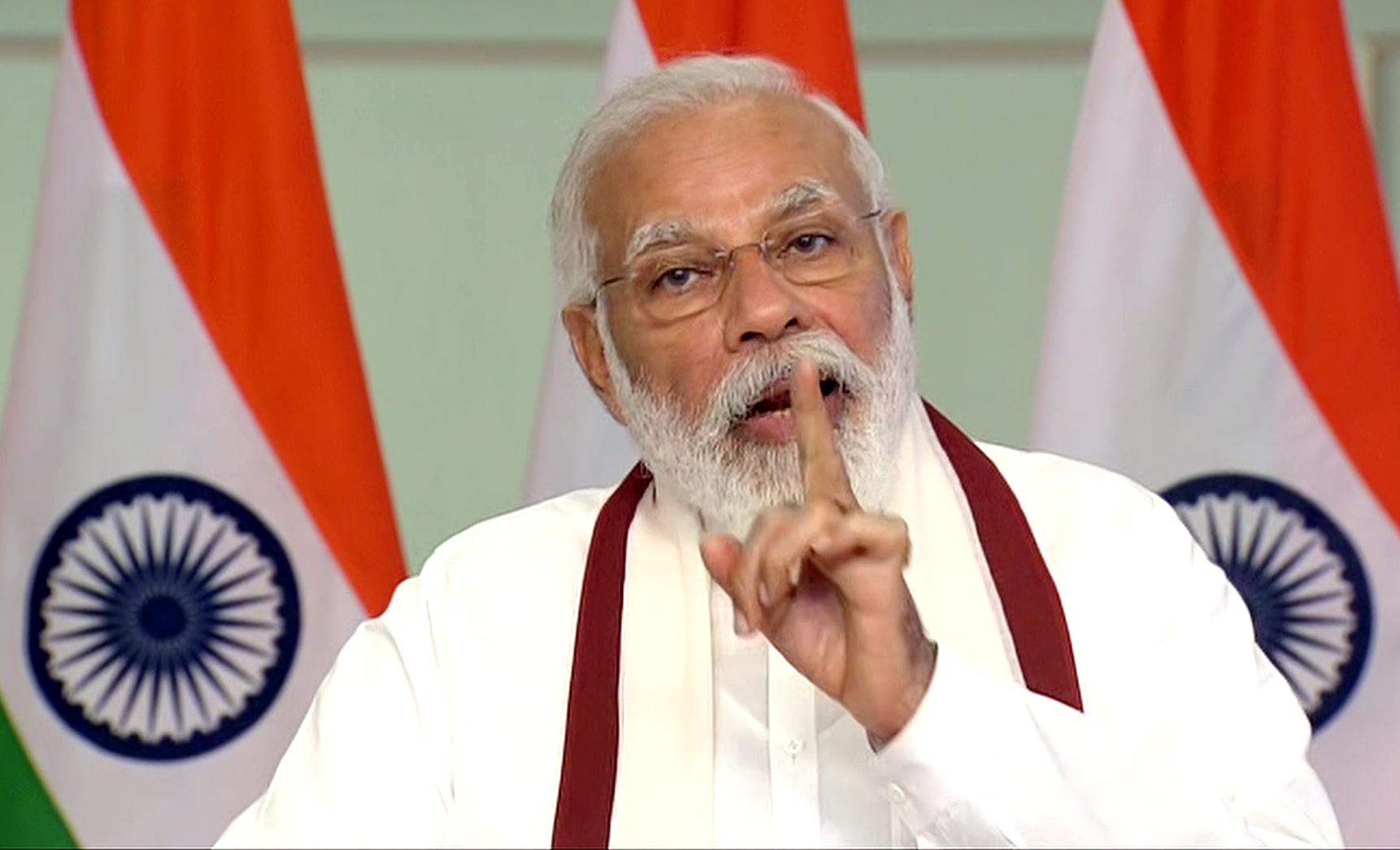 New Delhi, June 27 (ANI): Prime Minister Narendra Modi addresses during the 90th birthday celebrations of the Rev. Dr. Joseph Mar Thoma Metropolitan via video conferencing, in New Delhi on Saturday. (ANI Photo)